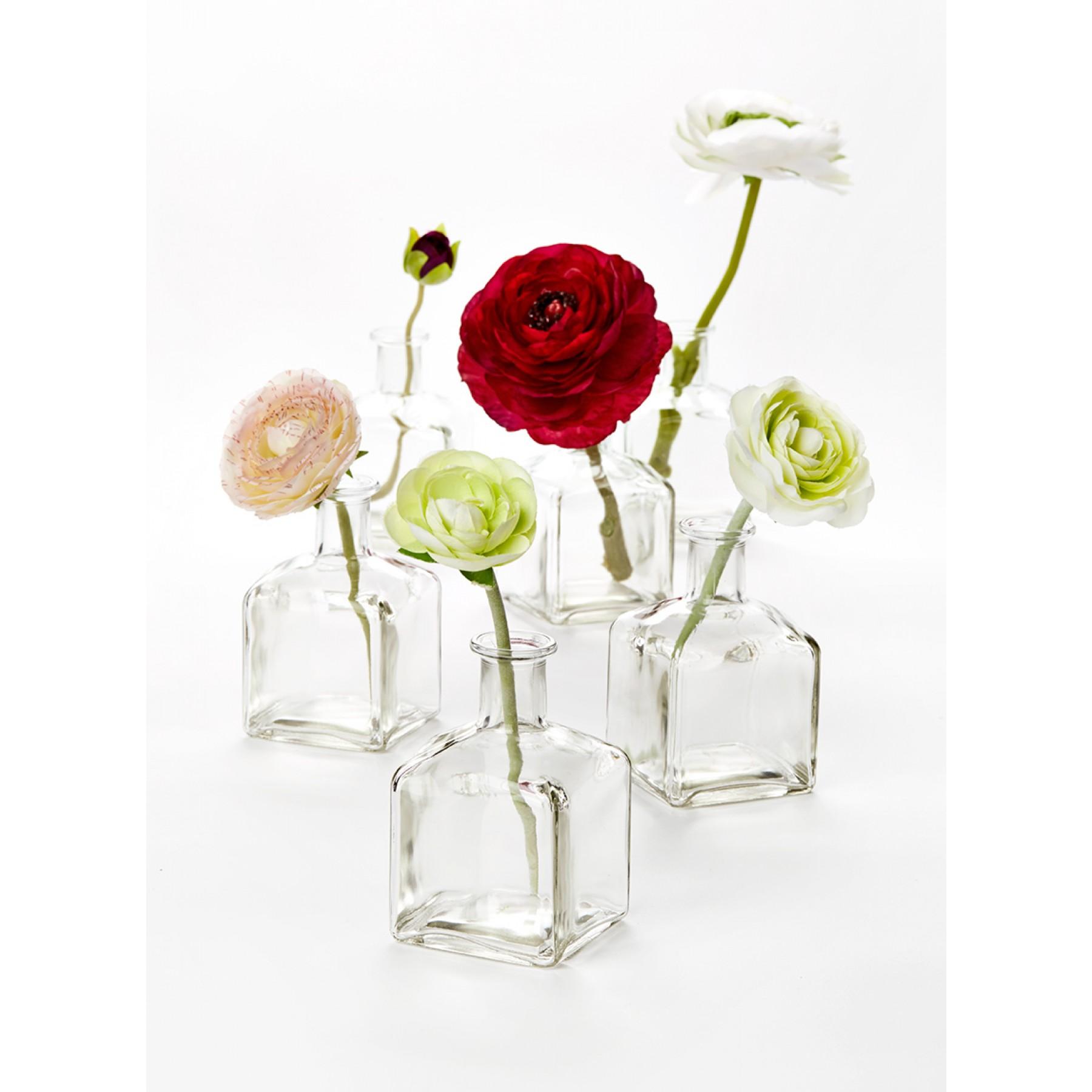 Glass Bottle Bud Vases