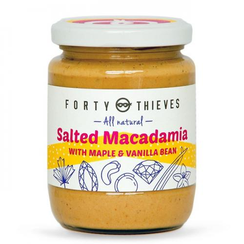 Salted Macadamia with Maple and Vanilla Bean by Forty Thieves
