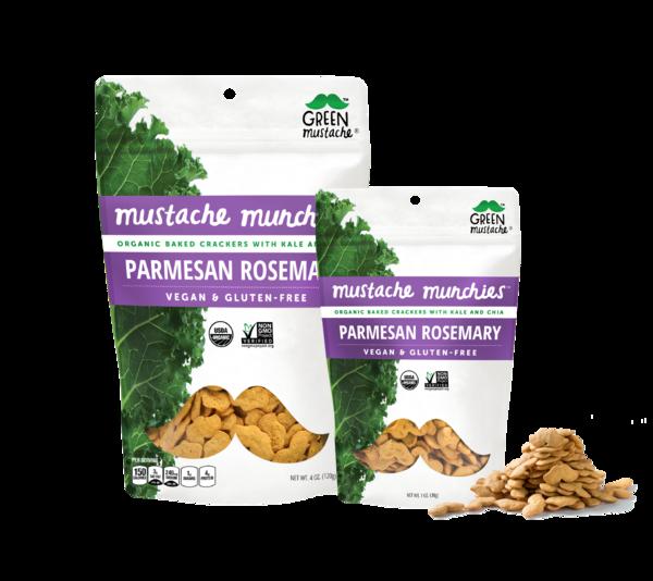 Parmesan Rosemary Mustache Munchies