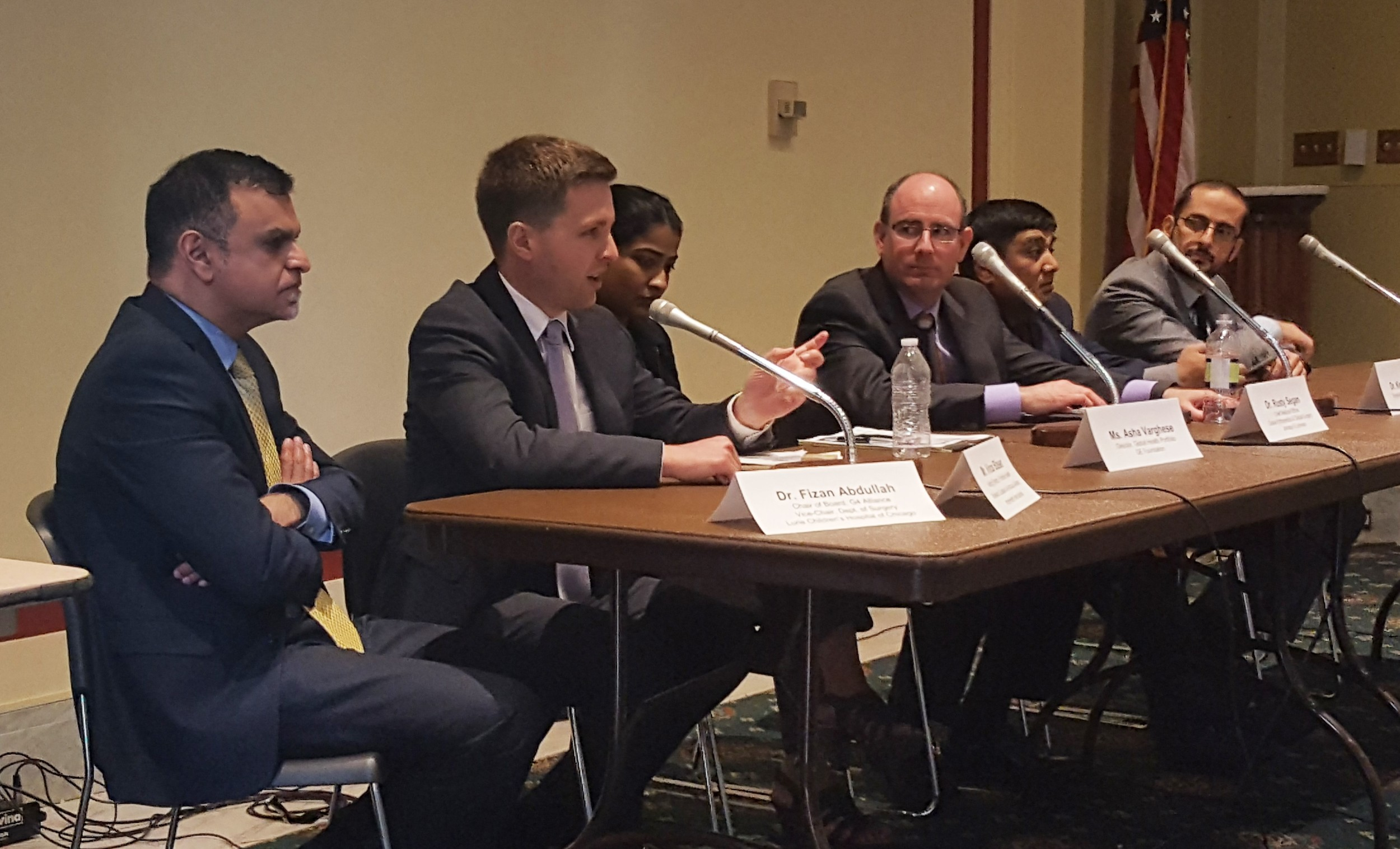 Vince Blaser (IntraHealth International & Frontline Health Workers Coalition) responds to a question about H.Res 419, a House resolution to address gaps in support and training for frontline health workers in low-and middle-income countries.