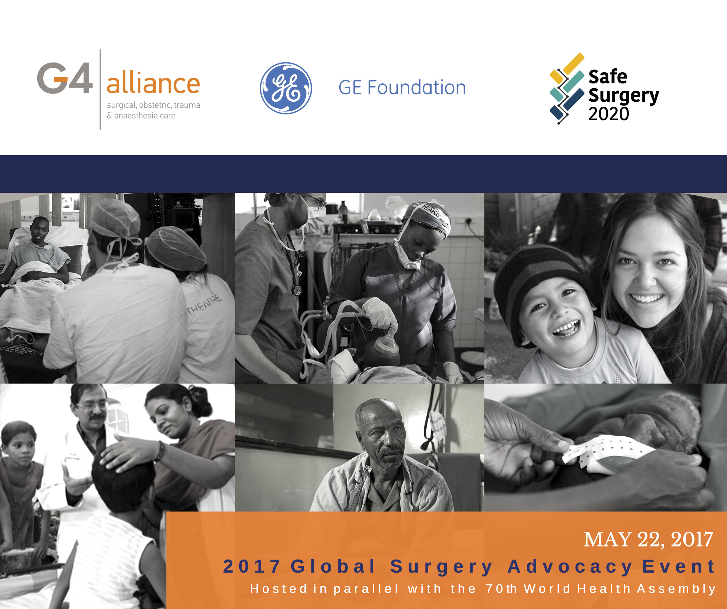 Hosted by the G4 Alliance and our network of 80+ organizations, in collaboration with the  GE Foundation  and  Safe Surgery 2020