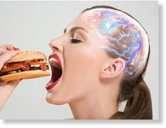 Brains chemical reaction to eating