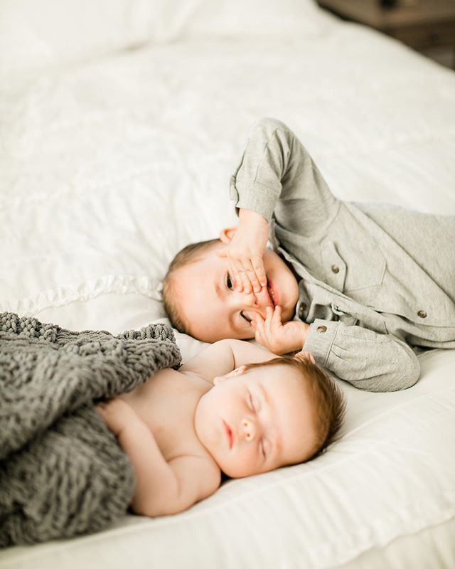 Big brother trying to take over his baby brother's photo shoot! See more of the Castle brothers on the blog today!