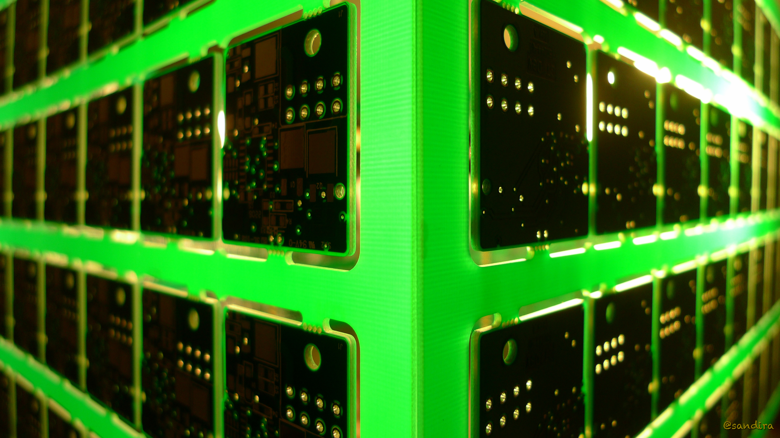 Circuitree - Seattle 2012 - Lampshade made with circuit boards