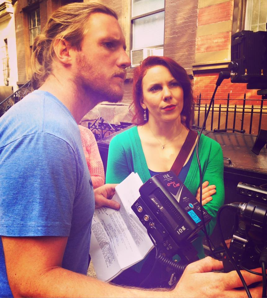 """Directing """"Pleasure as Usual."""" Cinematography by Mike Palzkill (left)."""