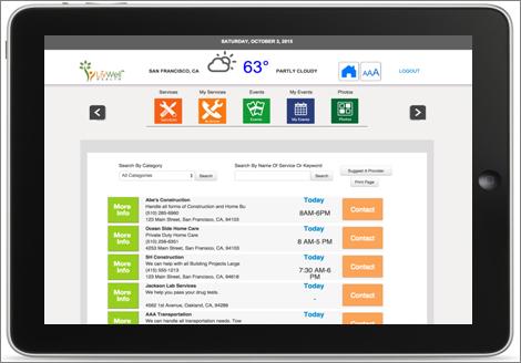 LivWell Resident Portal on an Apple iPad