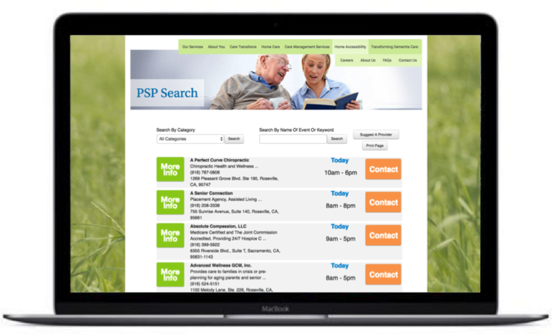 Example of Eskaton's Community Services Directory