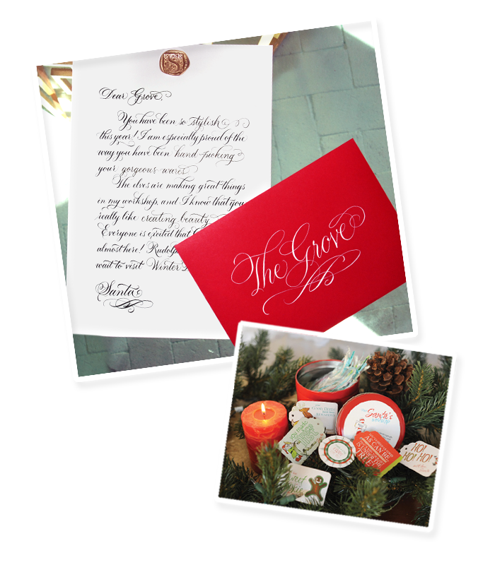 Top Image: Letter from Santa by Sarah Hanna     |   Bottom Image: Santa Tags from Santa's workshop by Paper Couture Stationery