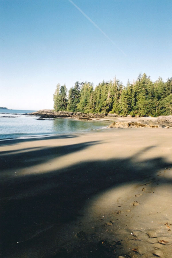 View from the beach at 'Cat Face Range'