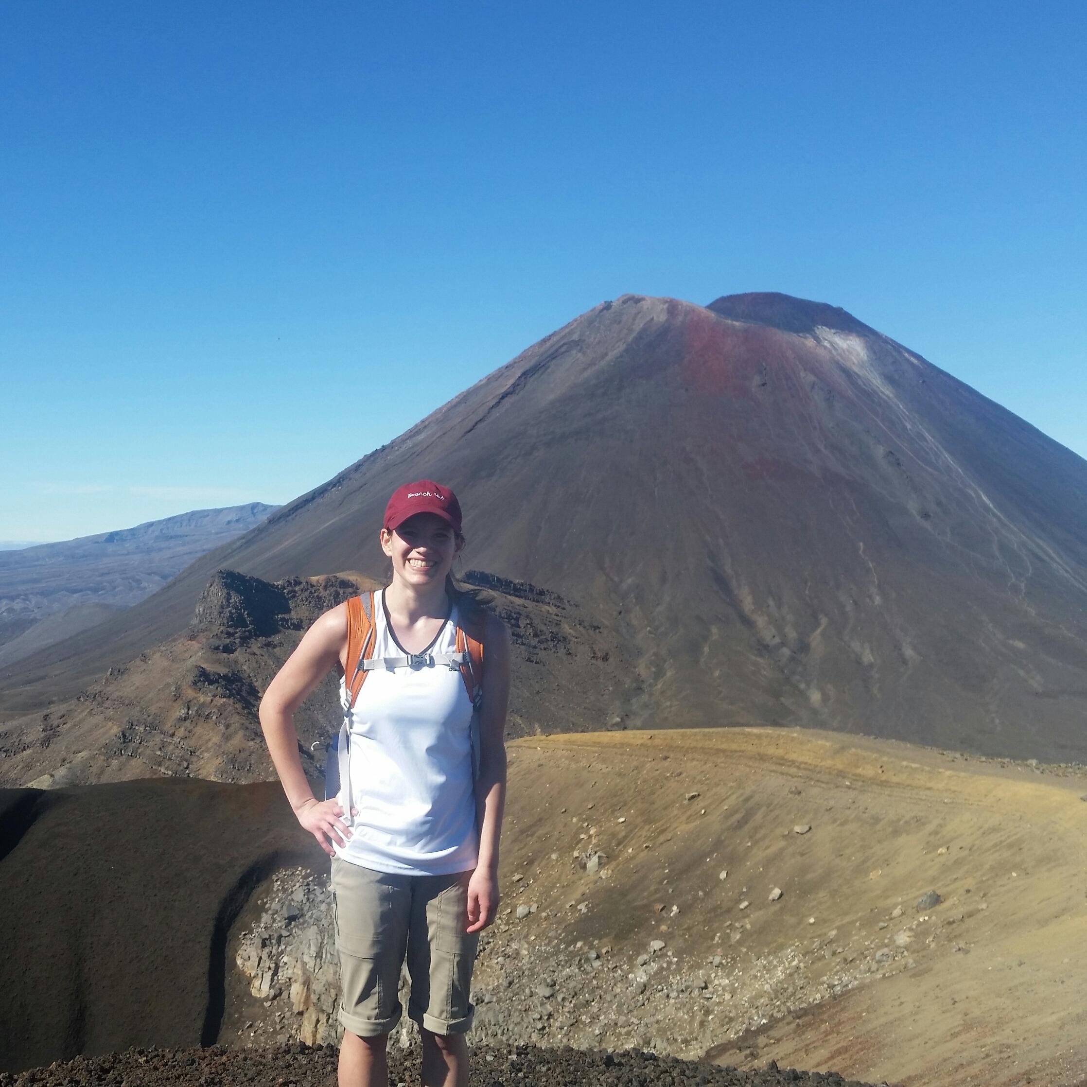 Sam in New Zealand in front of Mt. Doom.