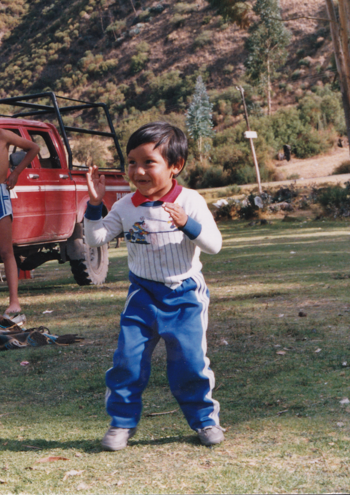 3 year-old Juan enjoys a summer picnic.