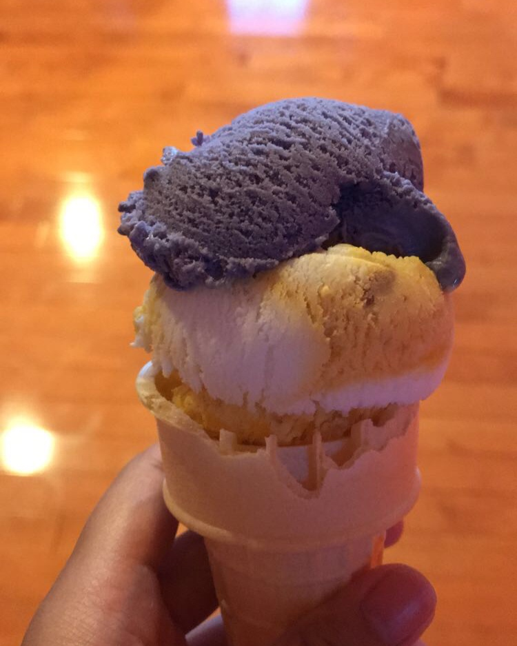 Krista's ube and mango ice cream