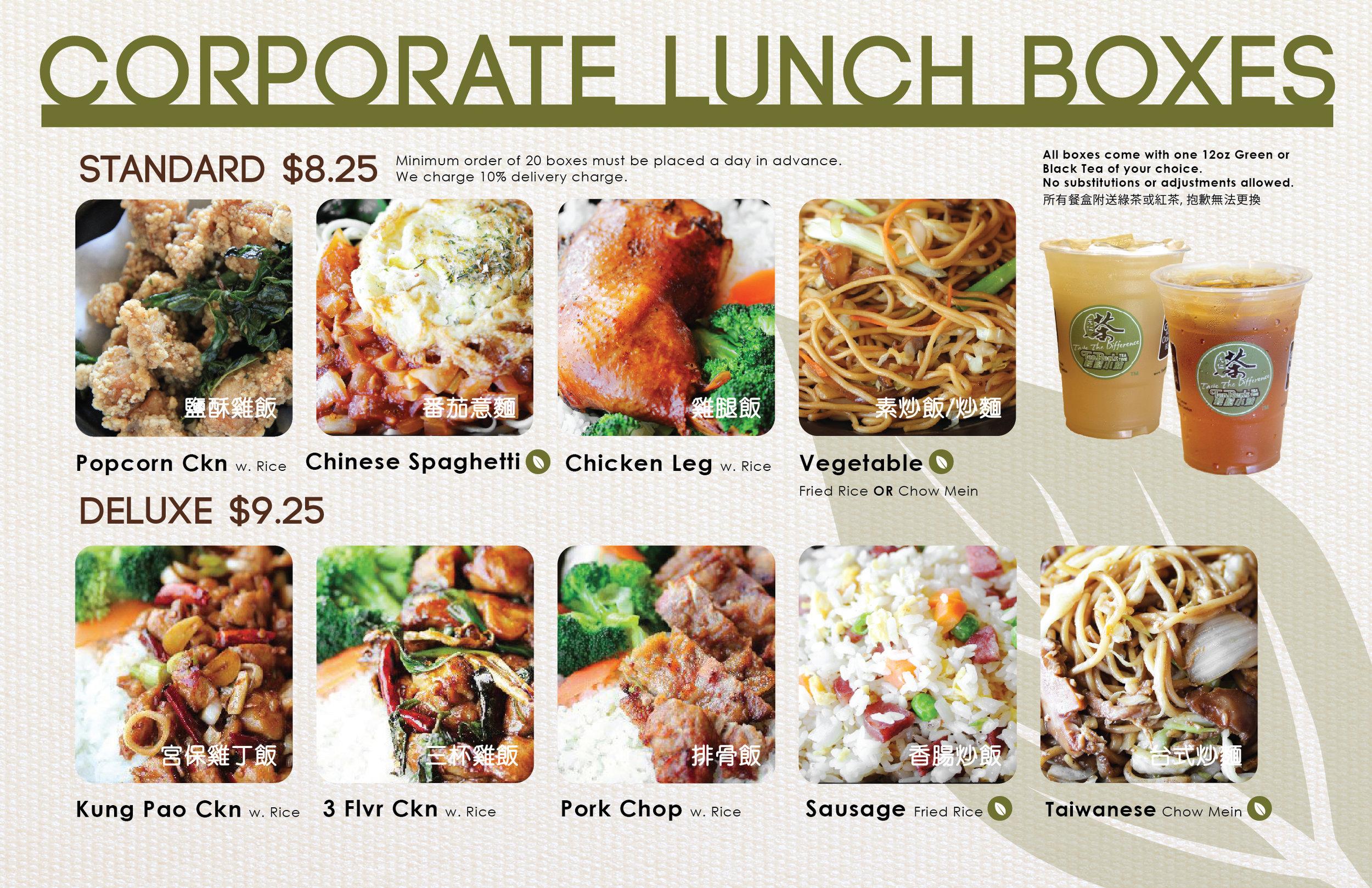 Corporate Lunch Box Info sheet