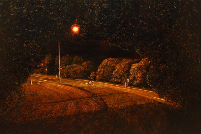 Intersection, Lachlan Ave and Queens Dr       Oil on canavs with digital projection      2008