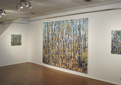 Red Door Gallery 2017    Forest 14-10-10   installed in  Edge of Tranquility