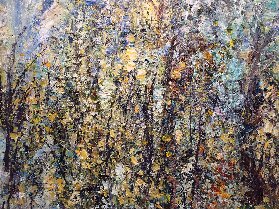 "Forest 14-5-15    2015, acrylic on canvas . 36""x48""  $7,500"