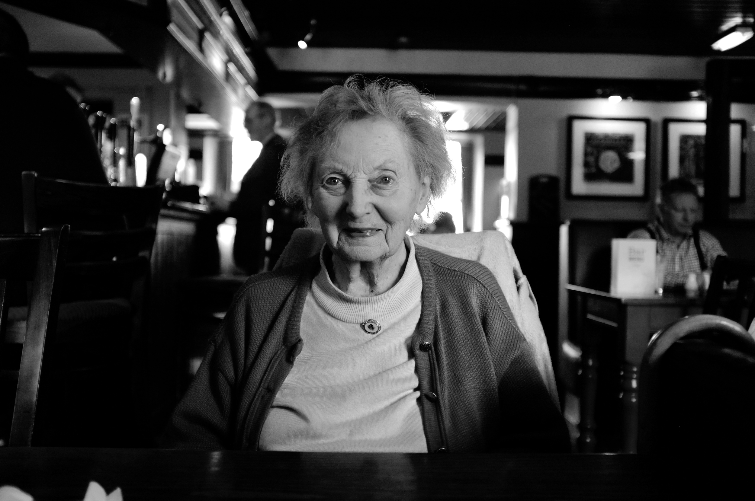 """Taken from the last day I spent with my Grannie, April 2014. I love her mischievous smile, the one she would use when she cupped my face in her hands and say """"oh hello my little lamb!"""""""