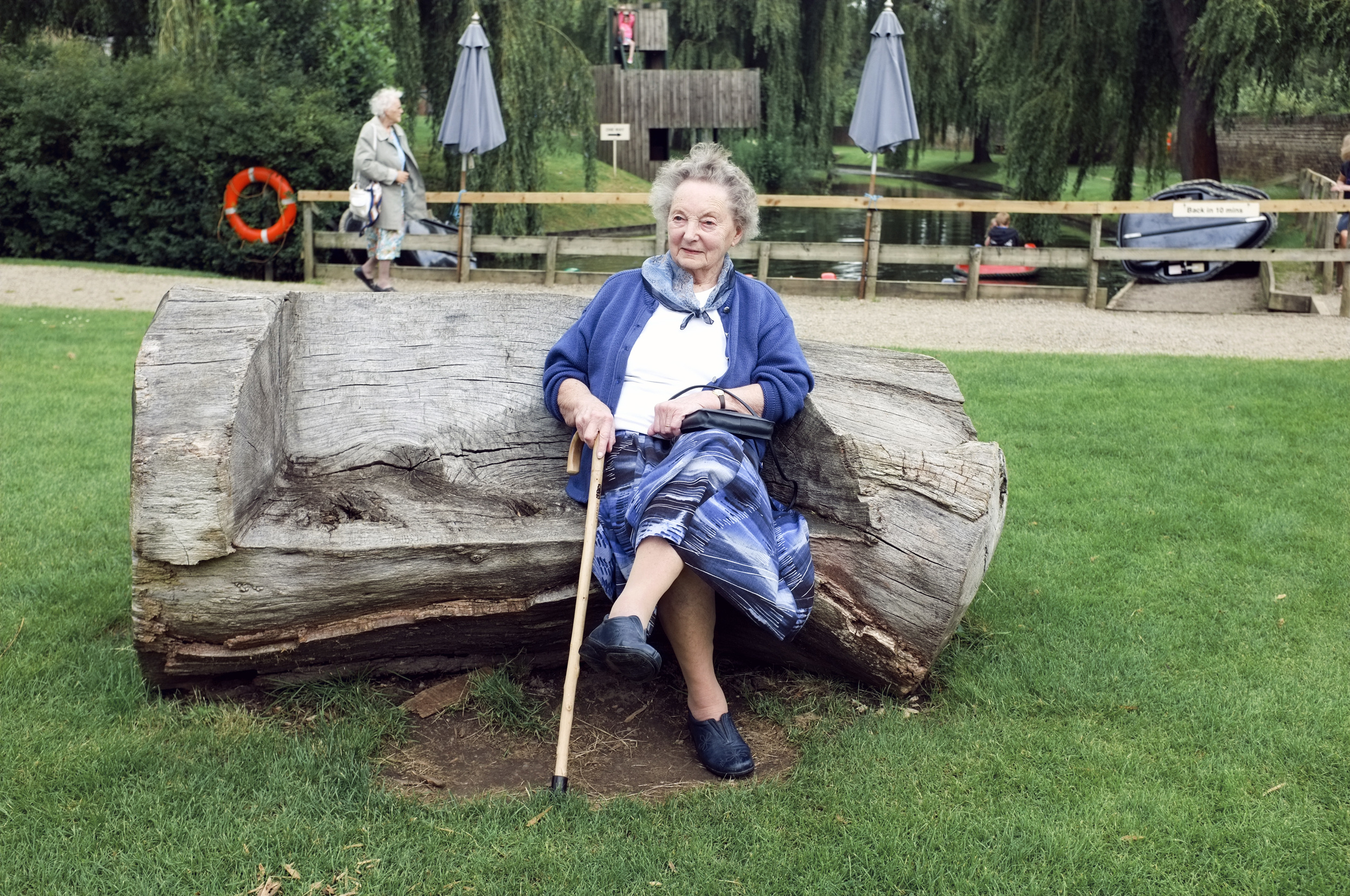 Grannie at Newby Hall in Yorkshire