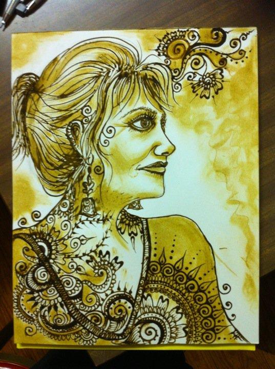Henna paste on paper