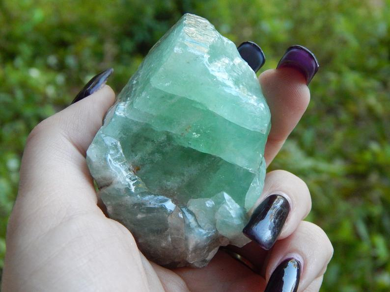 A gorgeous Green Calcite Specimen in my shop