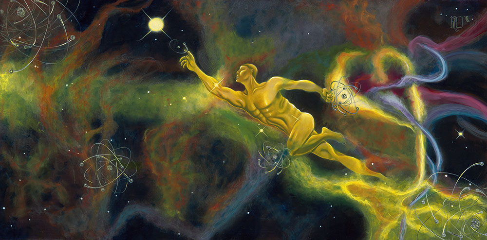 Veil Nebula, or 'Adam's Atoms'