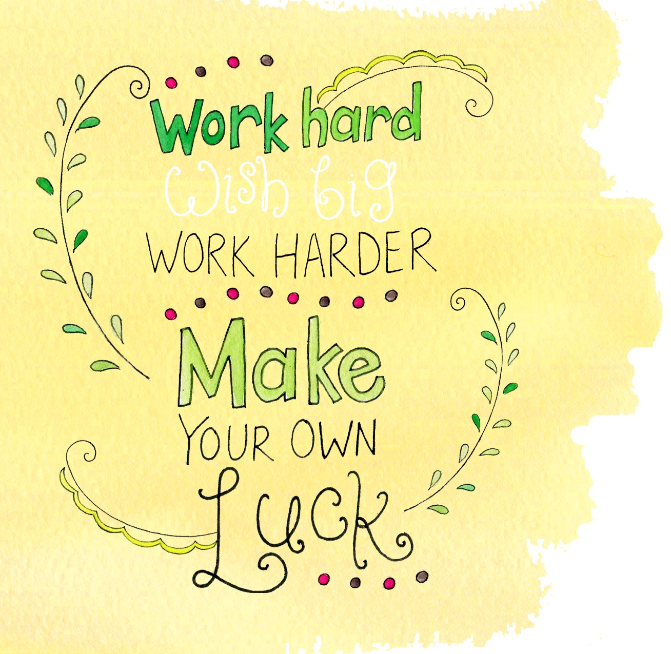 Lucky charms are all around us, but the luckiest charm is the magical effect of hard work and more hard work!