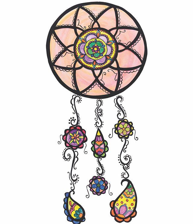 Catching those colorful dreams. . . . . #illustrator #illustratorsoninstagram #womenwhodraw #dreamcatcher #dreamer #floral #southasianartist #bohodecor #bohovibes #goodvibes @hellosunshine @refinery29 @projectcalmmagazine @flow_magazine