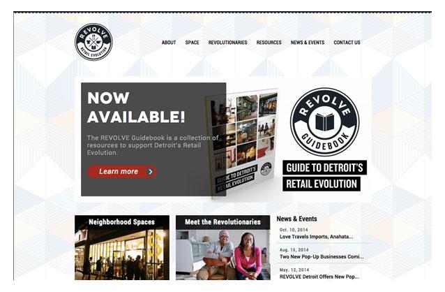 REVOLVE Detroit Website