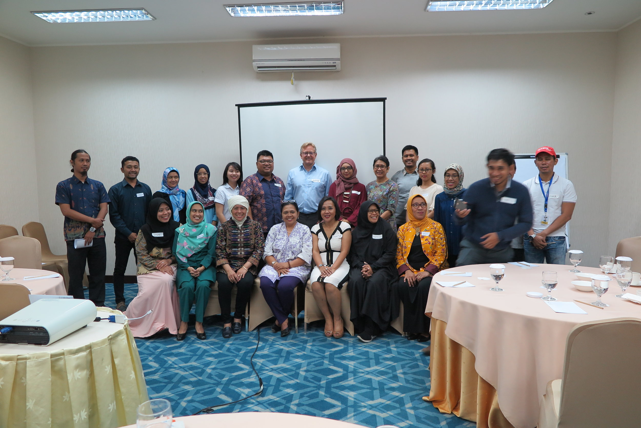 A group photo in Jakarta with my gracious hosts from IIEF and other stakeholders in higher education and other fields. Boy were they happy to break fast that evening! : )