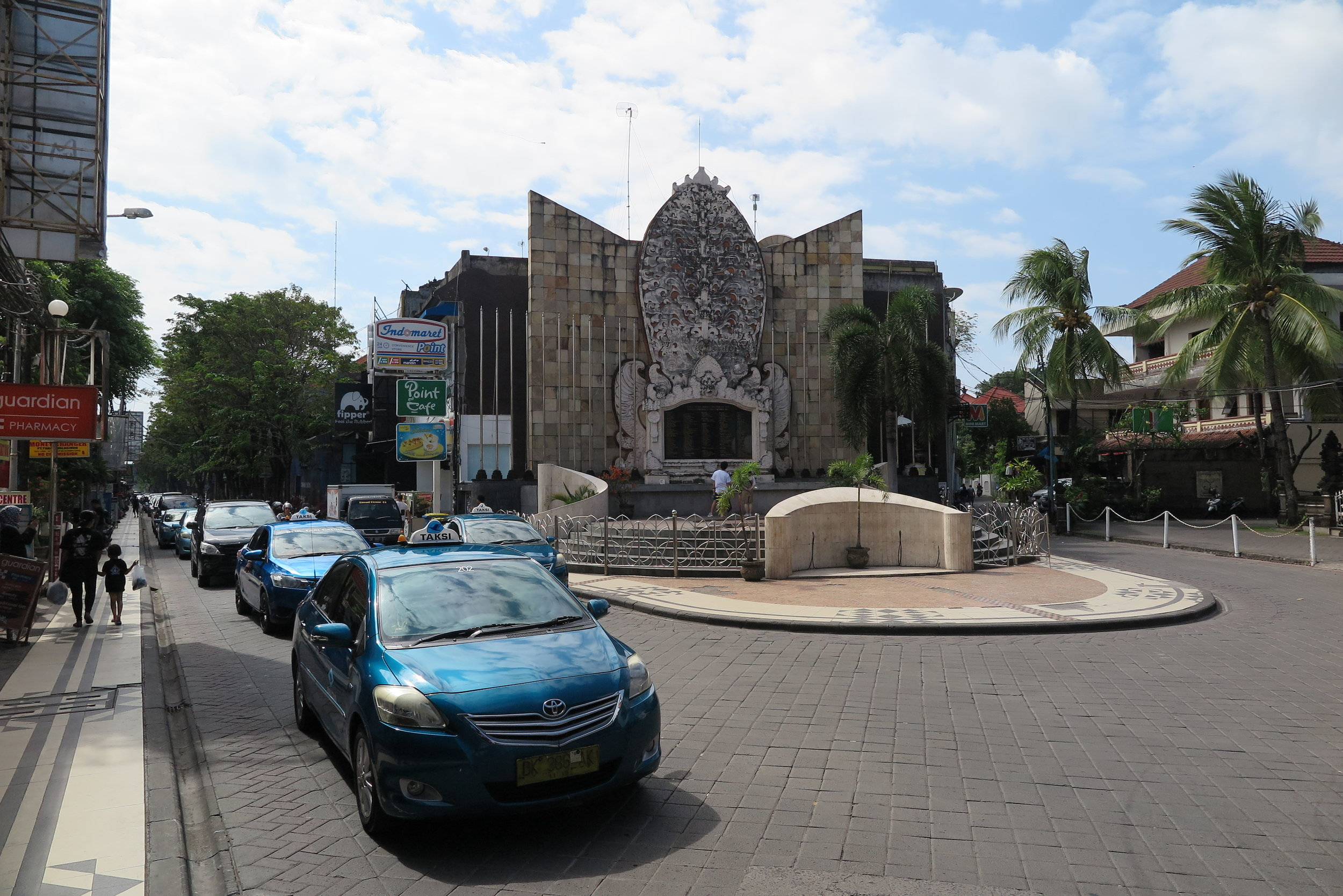 The memorial for the 2002 terrorist bombing incident near Kuta Beach with a plaque for the names of the people killed or injured.