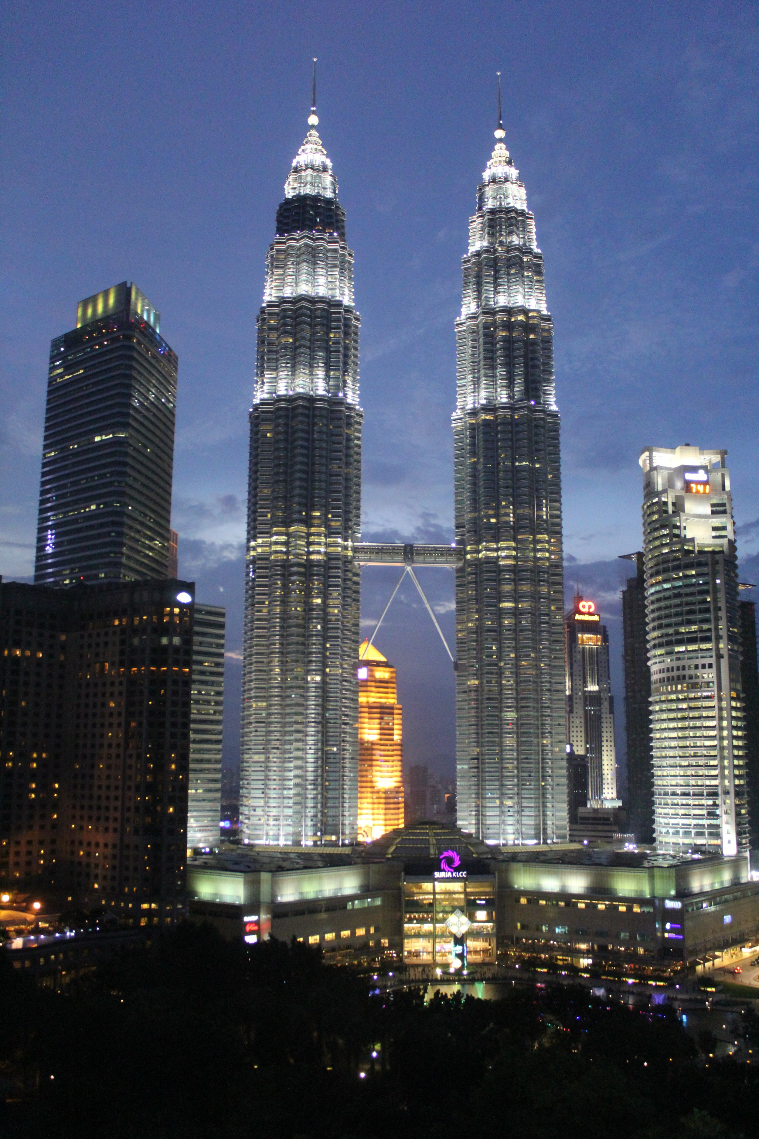The view from my hotel window at Traders of the Petronas Towers in the heart of Kuala Lumpur