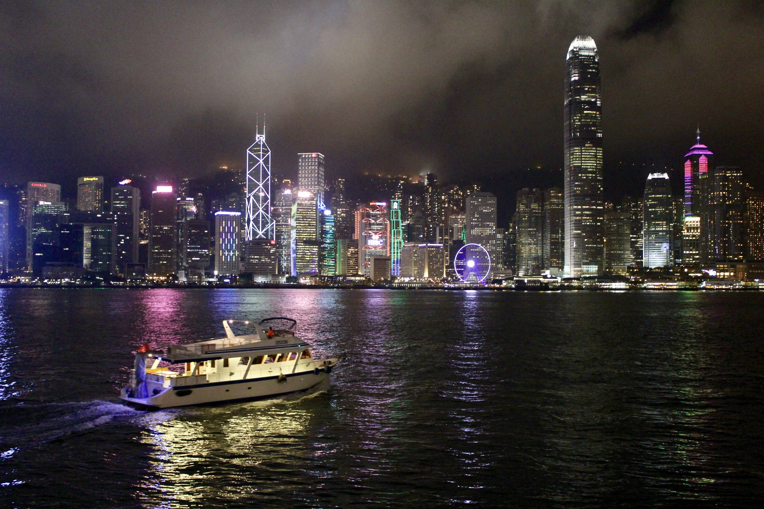 Looking out at Hong Kong Island across the harbor from Kowloon. A must-see for any HK visit!