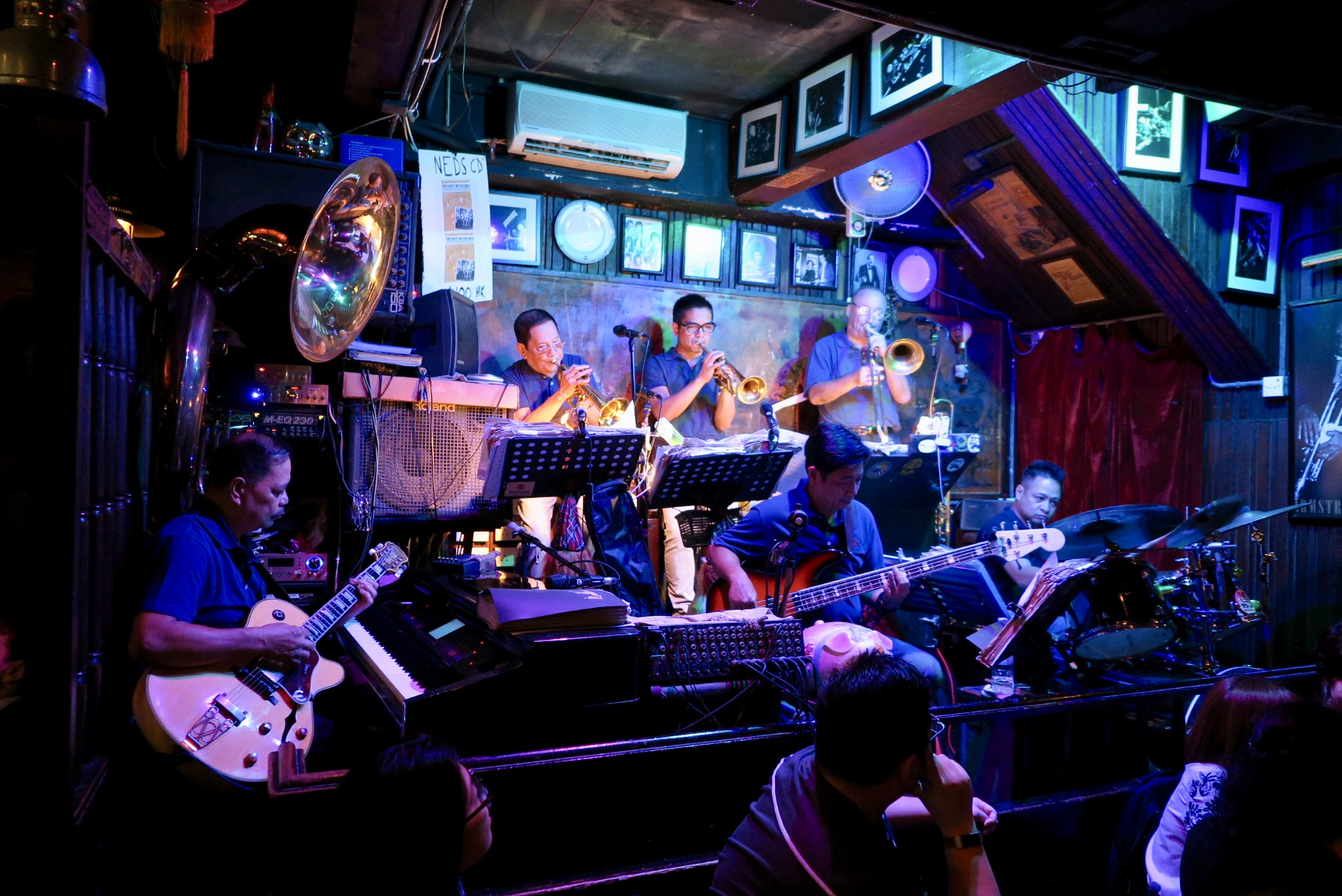 The jazz band at Ned Kelly's Last Stand in Tsim Sha Tsui,Kowloon