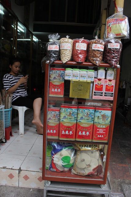 A shop on medicine street selling Chinese medicine and Korean ginseng