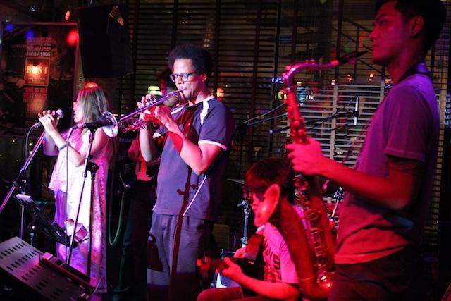 The jazz band at Brown Sugar