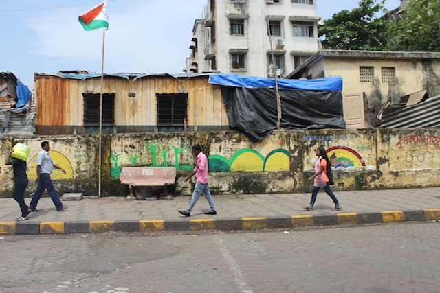 One of many colorful if rundown areas that I saw on my daytime journey by car around Bombay