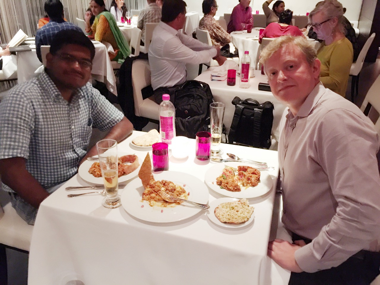 Vin and I at Varq at the Taj