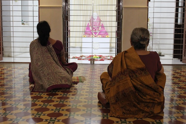 Inside the Holy Mother's Temple in Ramakrishna temple area