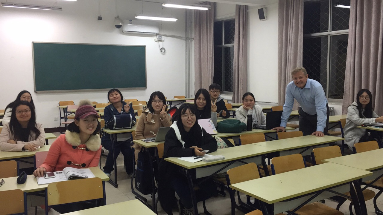 GLS info session with students at Beishida--always glad to be back on campus