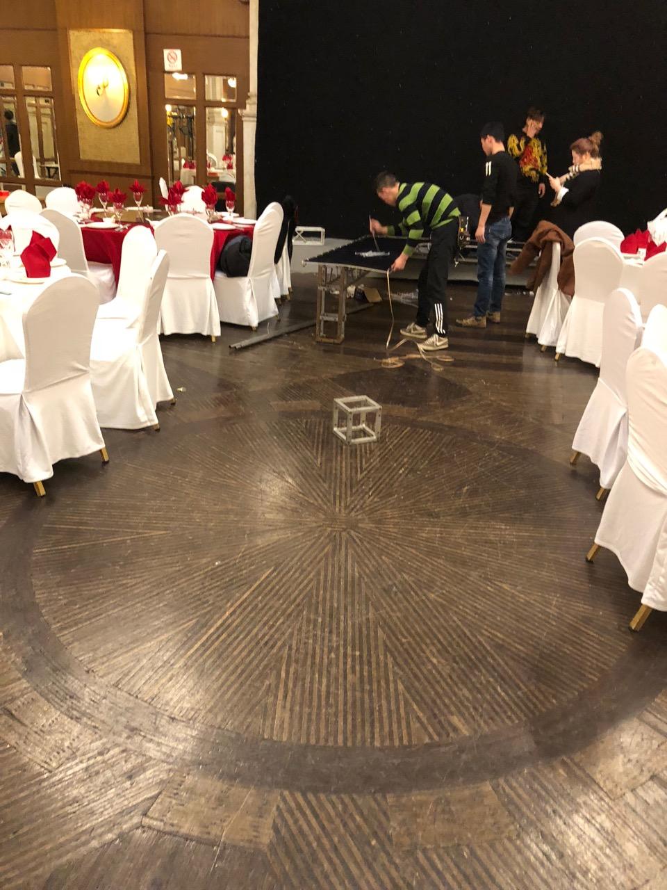 The Ballroom dance floor--almost 100 years old