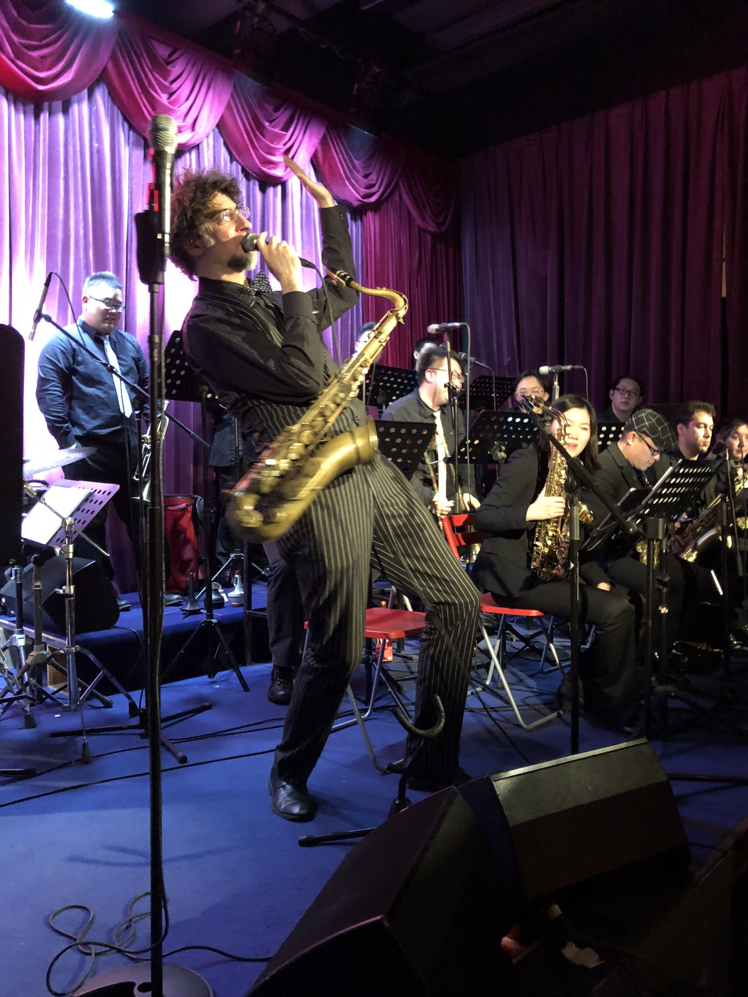 Alec Haavik leading the charge of the JZ Big Band