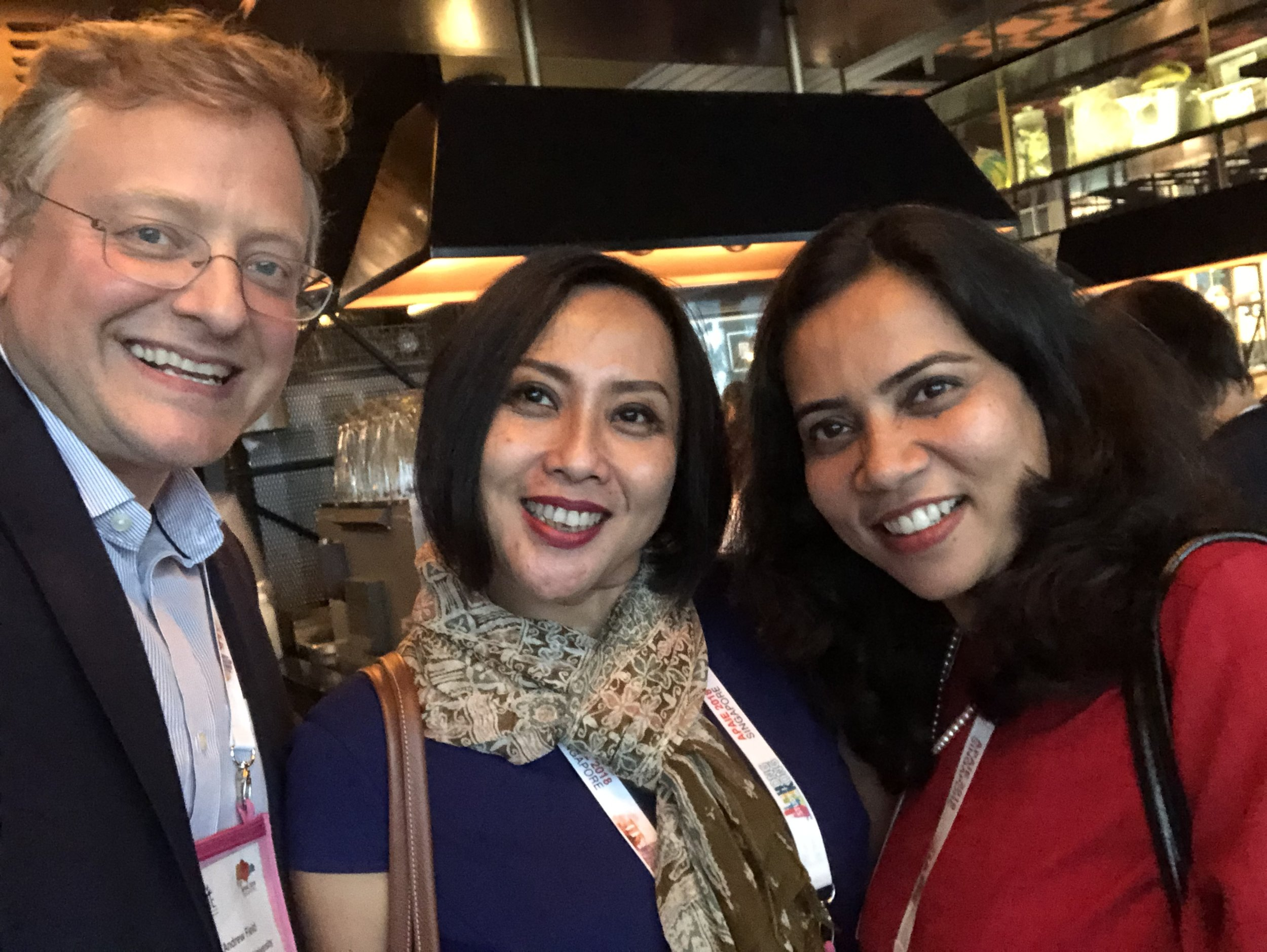 catching up with IIE and Duke colleagues Diana and Namrata