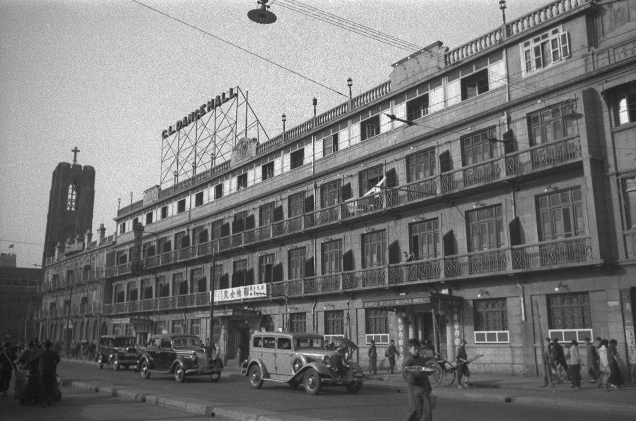 The C. L. Dance Hall inside the Juelu Hotel otherwise known as Chai Loh, taken in 1940s
