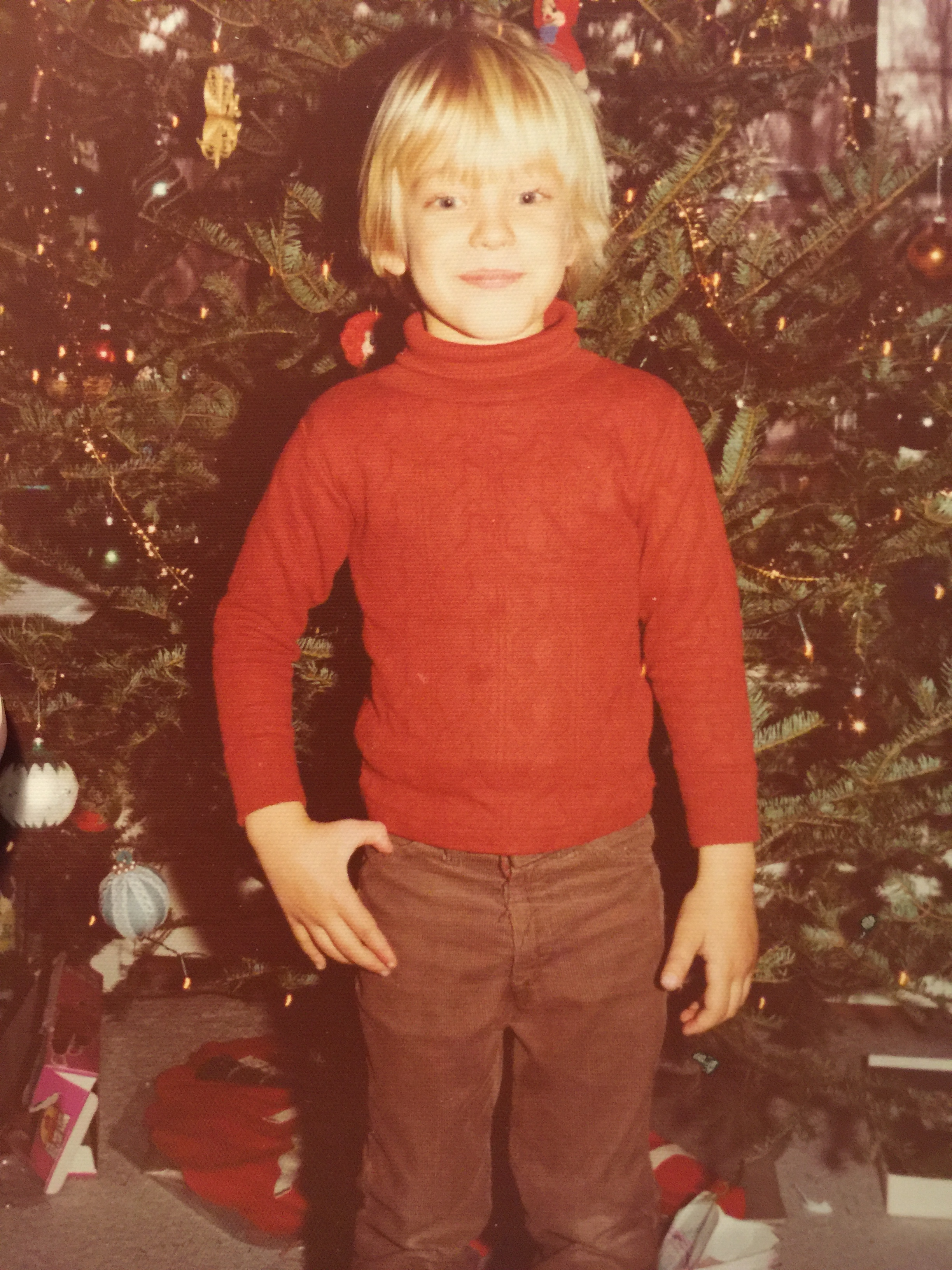 Here's me in the mid-1970s with my Beatle-esque mop top, around the time I received the Magical Mystery Tour as a Christmas gift