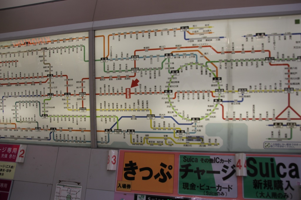 How tourists who don't read Japanese decipher this subway-train map, I will never know