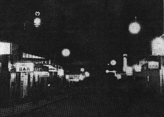 Blood Alley at night, during the 1930s