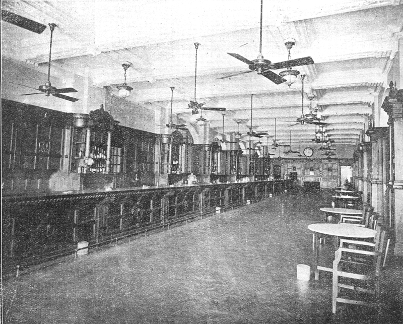 The famous Long Bar of the British Shanghai Club on the Bund in the 1920s (source: wikipedia)