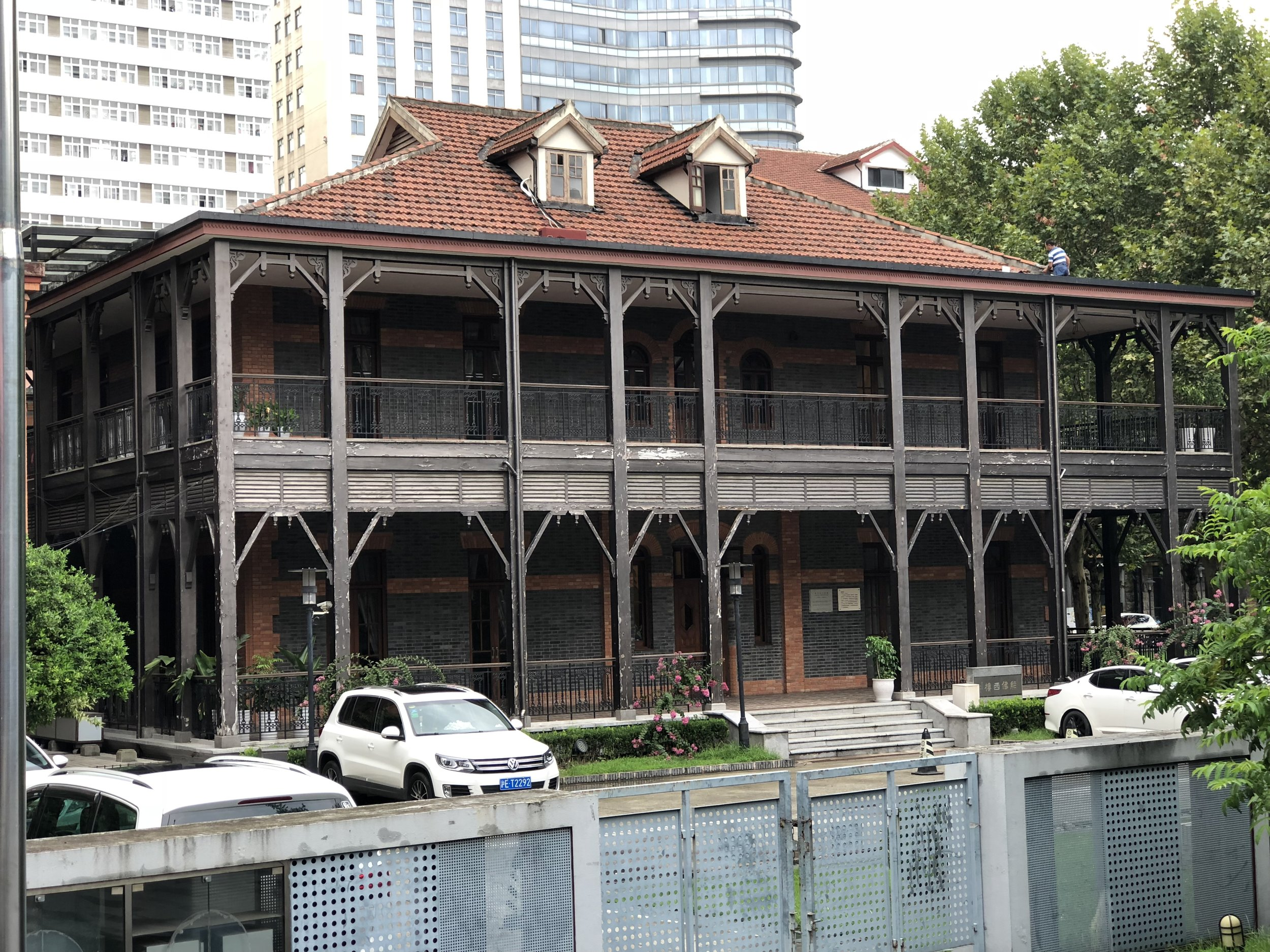The original building that once housed the Del Monte night club in Shanghai, now part of the Shanghai Theater Academy and known as the Xiong Foxi Building (there is no mention of the Del Monte on the plaque that describes the history of the building)