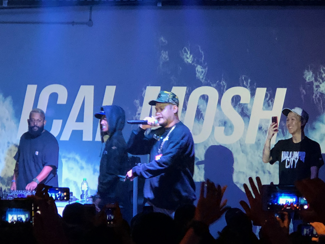 Ical Mosh, Malaysian rapper, at the Bee club in KL