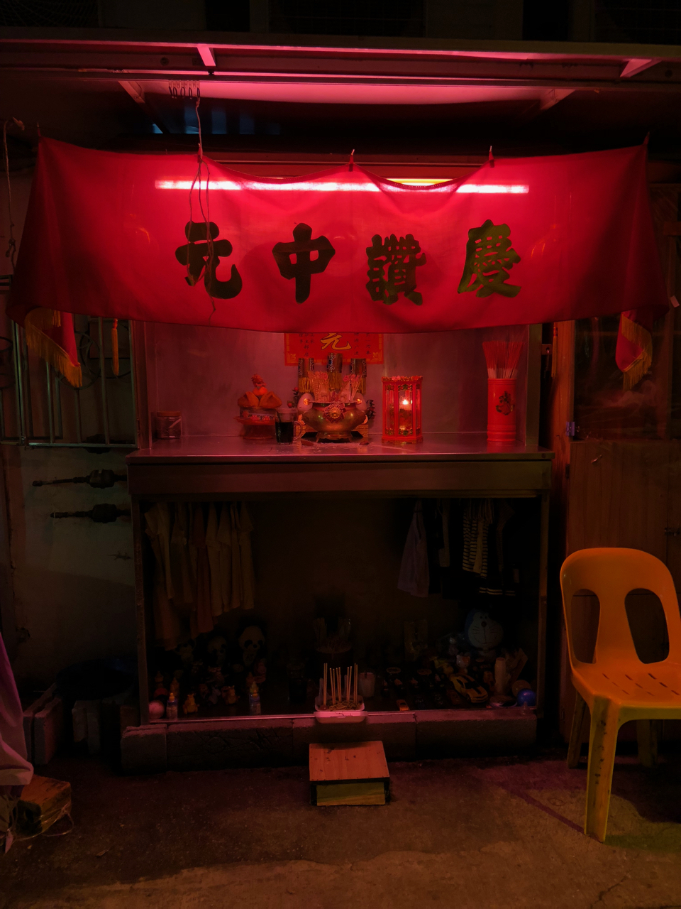A local shrine in Geylang. Sin and salvation go hand in hand.